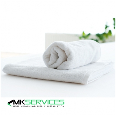 White facecloth towel 430g/m2
