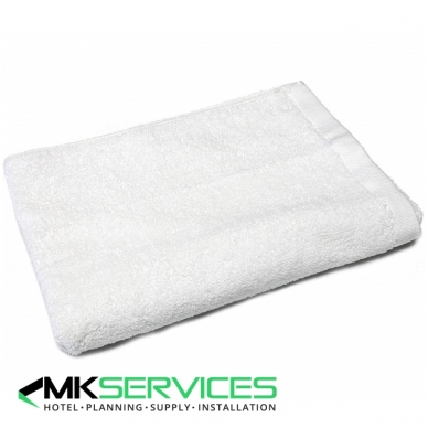 Baltas frotinis rankšluostis 530g/m2
