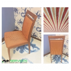 Dining chair red / orange