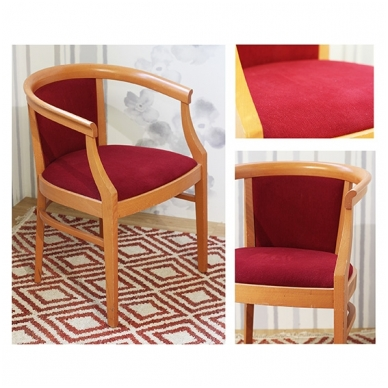 Second-hand chair with armrests RED