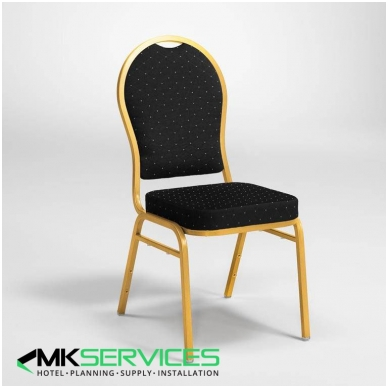 Conference / restaurants chair: Gold / Black