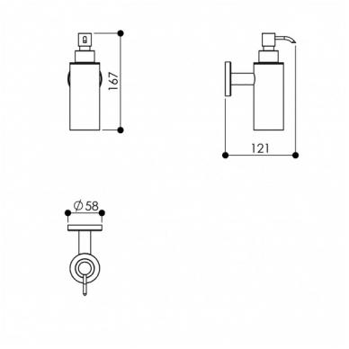 ODF sieninis muilo dozatorius, 125ml, chromuotas