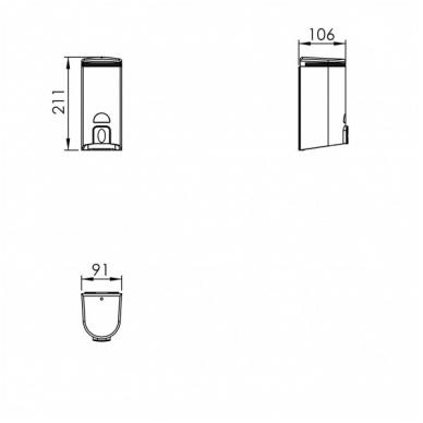ODF Liquid soap dispenser wall mounted