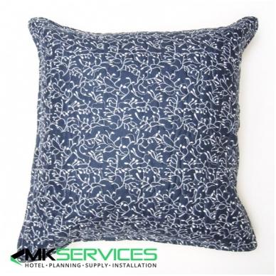 Pillow and pillow case set blue