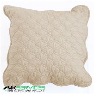Pillow and pillow case set choco/sand
