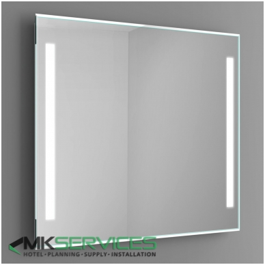 Bathroom mirror 1000x1000 mm